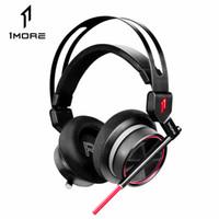 daha fazla oyun toptan satış-Ortable Ses Video Kulaklık Kulaklıklar 1 MORE H1005 USB Gaming Headset Spearhead VR E-Spor Kulaklıklar 7.1 Surround Ses Oyun LED Işık