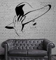 сексуальные фрески оптовых-Hot Sexy Girl Стены Стикеры Красоты Волос Спа-Салон Росписи Стены Искусства Декора DIY Самоклеящиеся Наклейки На Стены Обои