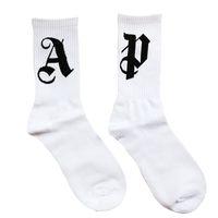 socken großhandel-Palm Engel SOCKE High Street Fashion Comfort Cotton Männer und Frauen Paar Weiß Rohr Strümpfe Freie Größe Socken HFWPWZ013