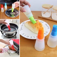 Wholesale camping cooking tools for sale - Group buy Silicone Oil Bottle Brush Baking BBQ Brush DIY Cooking Tools Silicone Brushes for Kitchen Camping Tool T2I5728