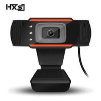 usb blue mic al por mayor-Cámara web HXSJ 3LED HD Cámara de PC 480P con micrófono de absorción Visión nocturna MIC para cámara de PC Skype Cámara web USB
