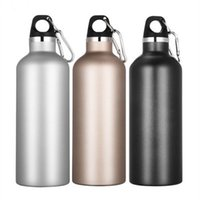 kaffee-clips großhandel-Doppelwandige Vakuum Isolierte Flasche Outdoor Edelstahl Auslaufsicher Wasser Flaschenverschluss Karabiner Clip Reise Kaffee Sportflasche