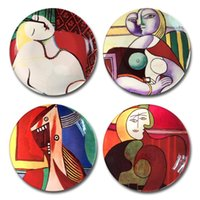 Wholesale abstract wall hangings for sale - Group buy New Picasso Famous Oil Painting Decorative Plate Spanish Abstract Wall Hanging Craft Dish Home Hotel Decor Inch