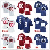 Wholesale kids new york jerseys for sale - Group buy Custom New York Daniel Jones Deandre Baker Dexter Lawrence Reggie White Jr Jabrill Peppers Men Women Kids Youth Giants Jersey