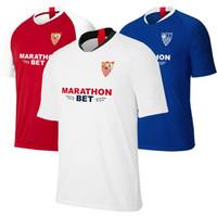 camisas do el venda por atacado-2019/20 Sevilla FC jersey estrutura BEN YEDDER camisa de futebol MUNIR BANEGA VAZQUEZ B.SALVATIERRA futebol t camisas de futebol camisas em branco