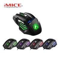 x7 fare toptan satış-Profesyonel Kablolu Gaming Mouse 7 Düğme 5500 DPI LED Optik USB Bilgisayar Fare Gamer Fareler PC Için X7 Oyun Sessiz Mause