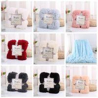 Wholesale super plush blanket for sale - Group buy Plush Throw Blanket Super Soft Long Shaggy Blankets Fuzzy PV Fur Faux Fur Warm Elegant Cozy Throw Sofas Bedding cm DHA565