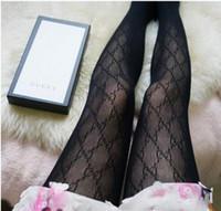 seksi bayan çorap toptan satış-Üst F g mektup logosu kadın kadın seksi Tayt bayanlar dantel çorap tayt Külotlu ince jakarlı romper ipek çorap Çorap kutusu olmadan