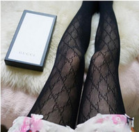 Wholesale hosiery leggings for sale - Group buy Summer F g letter logo women tights Pantyhose thin jacquard romper silk stockings female sexy Leggings ladies lace socks Hosiery without box
