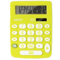 Wholesale human voice resale online - 12 Digits Large Screen solar Office Commercial Calculator real human Pronunciation Digits large screen Voice Calculator