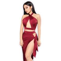 ropa de mujer moderna al por mayor-Mujeres Negro Rojo Moderno Salón Salsa Tango Vals danza de la etapa espectáculo de baile Vestidos de ropa Ropa demitoilet vestido del traje de la falda pt4