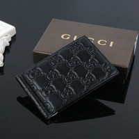 Wholesale money wallet design for sale - Group buy New Women Fashion Classic Design Casual Ultra thin wallet Credit Card ID Holder Money Clip with box