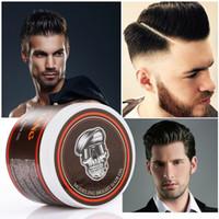 estilo de cabelo fácil venda por atacado-MOFAJANG Retro Cabelo Oil Firm Segurar Esqueleto de Cera de Cabelo Natural Pomada de Cabelo Creme Styling Produtos Fácil de Lavar