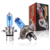 Wholesale h4 xenon halogen light bulb resale online - HESITE H4 V W LM White Halogen Xenon Bulbs Fog Light Source Automobiles Halogen Lamp Kit Car Accessories