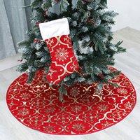 украшения из розового золота оптовых-Рождественская елка украшения творческий новый горячий золото дерево юбка красивый яркий цвет дерева нижний фартук набор