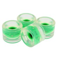 Wholesale glow board resale online - Skateboard mm Night Glowing Flash Wheels W Magnetic Cores Longboard Part