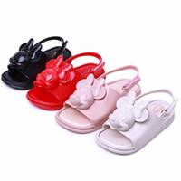 sapatos de animais do bebê venda por atacado-Mini Melissa 2019 Meninas meninos Sandálias Do Bebê Crianças Sandálias Animais Mini Melissa Crianças Sapatos Adorável