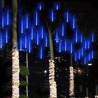 Wholesale rain lights led strip resale online - Edison2011 Snowfall LED Strip Light Christmas Light Meteor Shower Rain Tube Light String AC V for Xmas Party Wedding