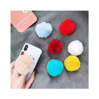 Wholesale plush phone holders resale online - Lazy Cute Plush Phone holder Expanding Phone stand with real M glue for Samsung S10 plus for iphone xs max