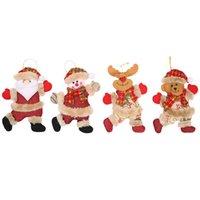 velho boneco venda por atacado-Árvore de Natal New acessórios da boneca Dança Velho Snowman Elk Urso Puppet Doll Decoration Christmas Gift