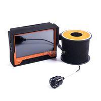 подводная hd камера рыбалка оптовых-HD ночного видения камера 15 м глубже эхолот подводная рыбалка подледный монитор 4,3-дюймовый ЖК-дисплей с талией FY-WF03