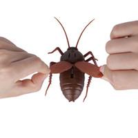 robot böcekler toptan satış-Çocuk Yetişkin Uzaktan Kumanda Oyuncaklar Kızılötesi RC Uzaktan Kumanda Hamamböceği Prank Hayvanlar Böcekler Şaka Oyuncakla ...