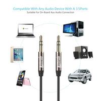 2-метровый нейлоновый кабель iphone оптовых-Premium Quality Удлиненной Nylon Braid стерео аудио кабель 3,5 мм штекер, 2M Strong мужчины 3,5 мм вспомогательного кабеля Шнур