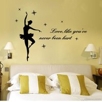 Wholesale home wallpaper words for sale - Group buy Mixed style wall quote decals stickers home decor vinyl wall art inspired words lettering saying wallpaper dream characters wall stickers