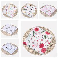 baby wickeltuch großhandel-Babydecken Baumwolle Flamingo Rose Früchte Drucken Musselin Babydecken Bettwäsche Säuglingswickel Wrap Handtuch Für Jungen Mädchen Wickeln Decke Geschenke
