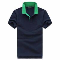 artı boyutu erkek polos toptan satış-2019 Artı G 2XL Boyutu eden Nakış Polo Gömlek Erkekler meduse Moda Tasarım kısa Kollu marka Streç Polos