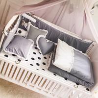 schlafzimmer quilts deckt großhandel-Neugeborenes Kinderbett Krippe Quilt für Schlafzimmer Baby Matratzenbezug Kissen Quilt Bettwäsche Baumwolle bequem für Schlafzimmer YCZ042