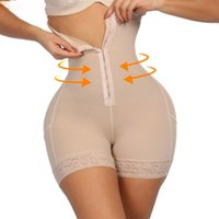 brustkontrolle groihandel-Breasted Lace Butt Lifter Hohe Taille Trainer Body Shapewear Frauen Abnehmen Unterwäsche mit Bauch Kontrolle Höschen