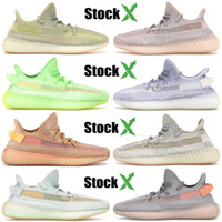 Wholesale glowing running shoes resale online - Best Quality Kanye West Black Static Antlia Reflective Designer Shoes Trfrm Running Shoes Glow In The Dark Sesame Men Women Sneakers
