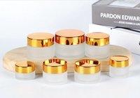 ingrosso ombretto di bottiglia-Crema bottiglia Eye Cream Crema Viso Fondazione Unguento Loose Powder Eyeshadow rotonda vasi di vetro Pot 5g 10g 15g 20g 30g 50g 100g EEA1186