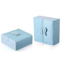 ingrosso scatole dolci della farfalla-Ladies Exquisite PU Leather Jewelry Boxes Ragazze Sweet Butterfly Decorazione Case Donna Fashion Colore orecchini Orecchini Anelli