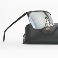 óculos de homem exclusivos venda por atacado-Moda Óculos De Sol Das Mulheres Quadrado Grande Quadro de Óculos de Sol Único Projeto Da Marca Cor Reflexivo Lente de Filme Quente 2019 Homens Óculos FML