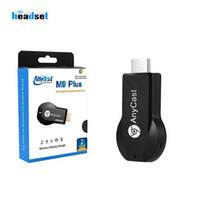 pc wifi al por mayor-Inalámbrico HDMI TV Stick AnyCast M2 más m4 m9 más WiFi Pantalla TV Dongle Receptor Miracast para teléfono Android PC