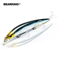 Wholesale long minnow lures resale online - Bearking Bk17 M59 Wobbler Minnow mm g new hot sale PC Fishing Lure Depth Hard Bait Long Tongue Minnow Lure