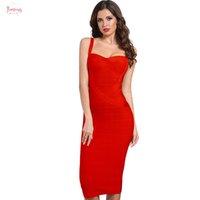 beyaz vücut kemeri bandaj toptan satış-2019 Backless Kadın Bandaj A-Line elbiseler Sarı Beyaz Kırmızı Mavi Pembe Yeni Kulüp Elbise Seksi Ünlü BODYCON Parti Elbise vestidos