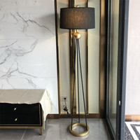 American Style Retro LED Iron Floor Lamps Bedroom Living Room Standing Lamp Hotel Decor Floor Light Fixtures Luminaire Lighting