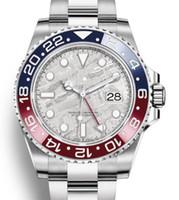 mens gmt otomatik saatler toptan satış-Lüks GMT Seramik Çerçeve Erkek Mekanik Paslanmaz Çelik Otomatik 2813 Hareketi Tasarımcı İzle Master Erkekler Moda Saatler Saatı