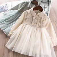 holiday tutu dresses Canada - Kids Girls Patchwork Tulle Tutu Ruffles  Blouse Dress Holiday Summer Spring 51c7bb81bf26