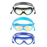ingrosso grandi vetri in plastica-Occhiali da nuoto BH007 + tappi per le orecchie anti-appannamento e anti-UV occhiali da vista in silicone bicolore