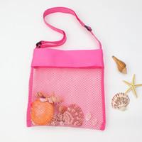 paquetes de vacaciones al por mayor-Niños playa de verano un bolso de hombro multicolor vacaciones de los niños niña bebé recogiendo paquetes hombro neto