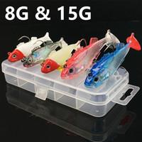 Wholesale jigging lure 8g for sale - Group buy 5pcs box g g Jigs Fishing Hooks Fishhooks Hook Soft Baits Lures Fishing Tackle g