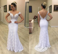 Wholesale dresses for bridal for sale - Group buy Elegant Lace Mermaid Wedding Dresses For Bride Sheer Neck Illusion Bow Sweep Train Retro Bridal Gowns Country Style Vestidoe De Noiva Custom