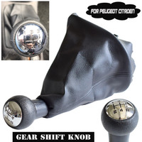 Manual Car 5 Speed Gear Stick Shift Lever HeadBall Gaiter Boot For Peugeot 206 306 307 308 3008 For Citroen C2 C4 Picasso