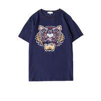 kaplan baskısı tişörtleri toptan satış-Yaz Tasarımcı Erkekler Için T Shirt Kaplan Kafası Marka mektuplar ile tişörtleri Baskılı Ekip Boyun Lüks Erkek Gömlek Kısa Kollu T ...