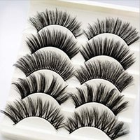 Wholesale mixed tray eyelash for sale - Group buy 5Pairs MOQ boxes Trial order Professionals False Eyelash full strip daily use handmade mixed one tray lashes