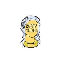 taht iğnesi toptan satış-Oyun thrones Yumuşak Emaye Pin Anneler Günü Hediyesi Rozeti Mama Broş